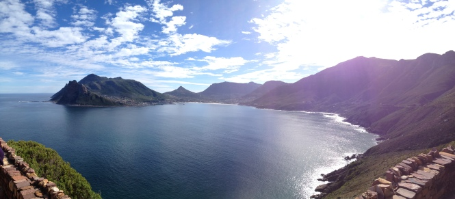 Overlooking Hout Bay from Chapman's Peak, on the way to the Sunday Market