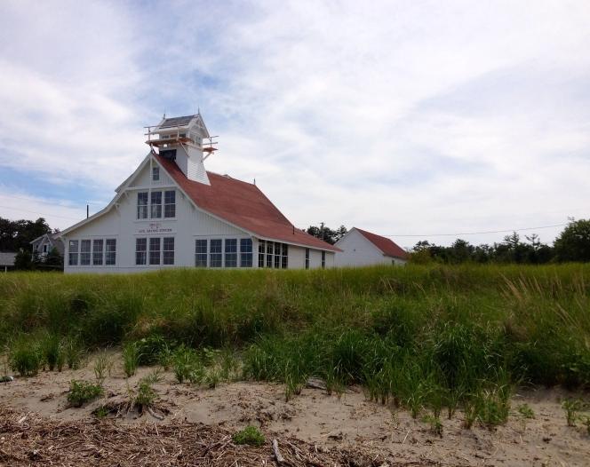 Old Coast Guard building (c. 1883), Popham Beach, Maine