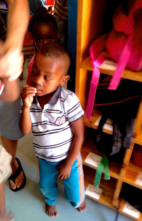 Little faces at Masiphumelele Creche, South Africa, Copyright Silverleaf 2014