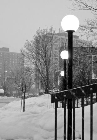Winter Street Lights, Copyright Silverleaf 2014